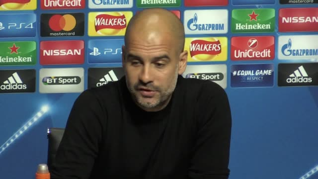 Press conference with Manchester City manager Pep Guardiola ahead of the Champions League game against Napoli He talks about the way the team are...