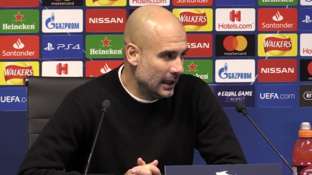 Press conference with Manchester City manager Pep Guardiola following the 21 Champions League win over Hoffenheim He says his players coped very well...