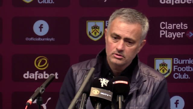 Press Conference with Manchester United Jose Mourinho after their 02 victory against Burnley
