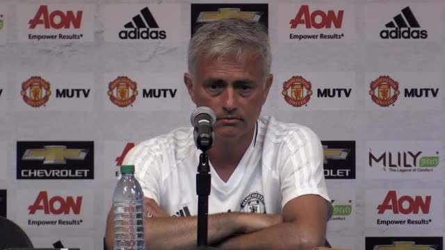 Press conference with Manchester United manager Jose Mourinho ahead of his side's preseason friendly against LA Galaxy in America