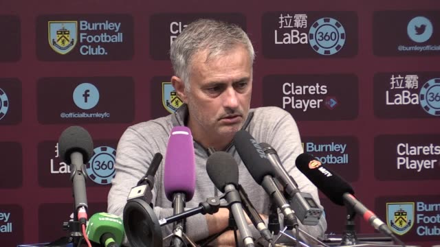 press conference with manchester united manager jose mourinho following the 20 win over burnley at turf moor he says it was a very good performance... - game of chance stock videos & royalty-free footage