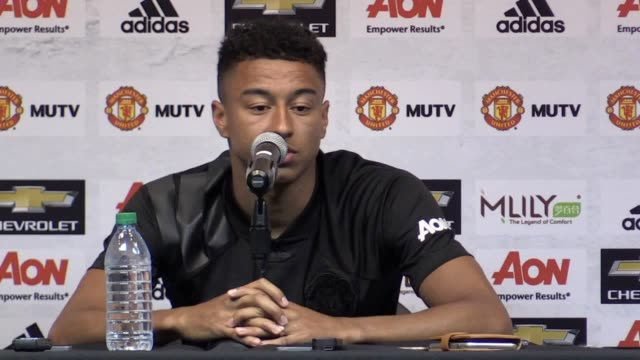 Press conference with Manchester United midfielder Jesse Lingard ahead of his side's preseason friendly against LA Galaxy in America