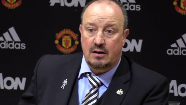 Press conference with Newcastle manager Rafael Benitez after the defeat against Man United at the Old Trafford