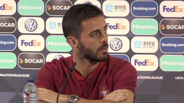 Press conference with Portugal and Man City player Bernardo Silva ahead of the UEFA Nations League semi against Switzerland