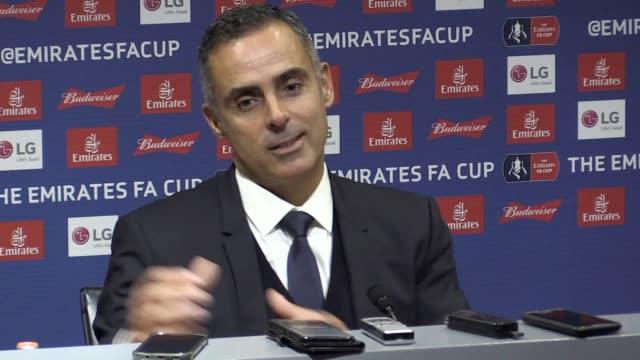vidéos et rushes de press conference with reading manager jose gomes following their 2-0 fa cup defeat against manchester united he talks about the var decision to award... - var