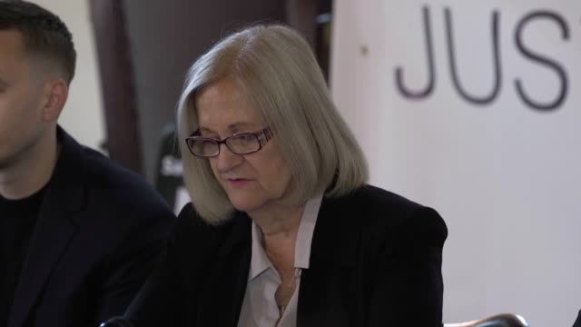 press conference with sally challen and her son david following a ruling at the old bailey stating she will not serve more time in prison after... - domestic violence stock videos & royalty-free footage