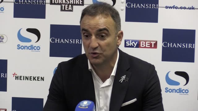 press conference with sheffield wednesday head coach carlos carvalhal following their loss on penalties to huddersfield in the championship play-off... - playoffs stock videos & royalty-free footage