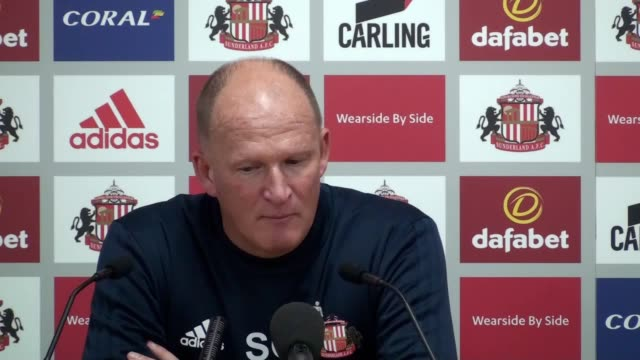 Press conference with Sunderland manager Simon Grayson after his side's 11 draw with Derby on the opening night of the Championship season