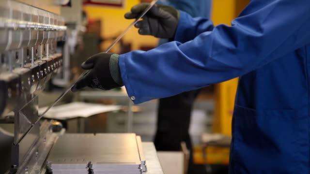 Press operator bending sheet metal