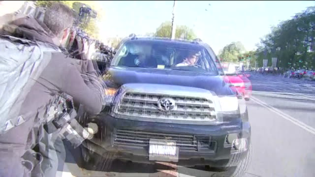 press pursue paul manafort, former trump campaign chairman, as he walks toward waiting car after departing u.s. district court in washington, dc - pursuit concept stock videos & royalty-free footage