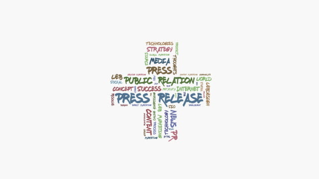 press release word cloud - press release stock videos and b-roll footage