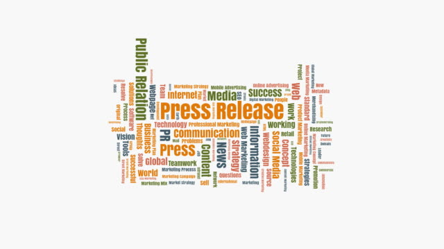 press release wordcloud - press release stock videos and b-roll footage