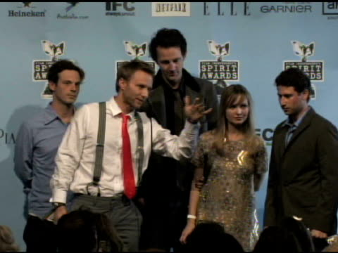 alex holdridge at the film independent's 2009 spirit awards press room at los angeles ca. - independent feature project video stock e b–roll