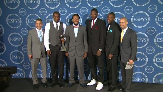 press room at the 2011 espy awards at los angeles ca. - espy awards stock videos & royalty-free footage