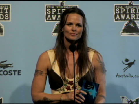 heather rae at the film independent's 2009 spirit awards press room at los angeles ca. - independent feature project video stock e b–roll