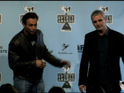 laurent cantet at the film independent's 2009 spirit awards press room at los angeles ca. - independent feature project video stock e b–roll