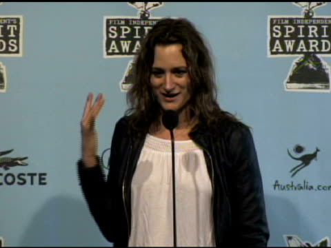 margaret brown at the film independent's 2009 spirit awards press room at los angeles ca. - independent feature project video stock e b–roll