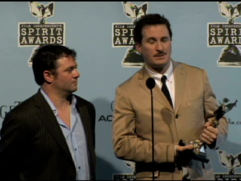 scott franklin and darren aronofsky at the film independent's 2009 spirit awards press room at los angeles ca. - independent feature project video stock e b–roll