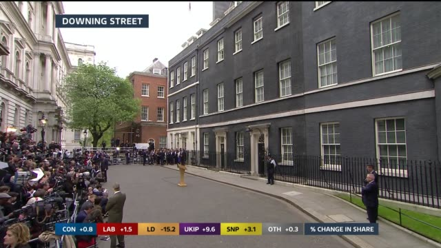 press waiting outside number ten various of lectern outside no 10 man setting up podium **lewington studio interview partly overlaid sot** people... - lectern stock videos & royalty-free footage