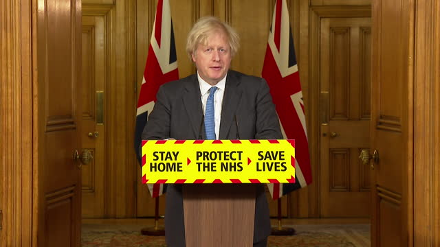 "presser boris johnson pm, about coming out of coronavirus lockdown ""we want this lockdown to be the last and we want progress to be cautious but... - emergence stock videos & royalty-free footage"