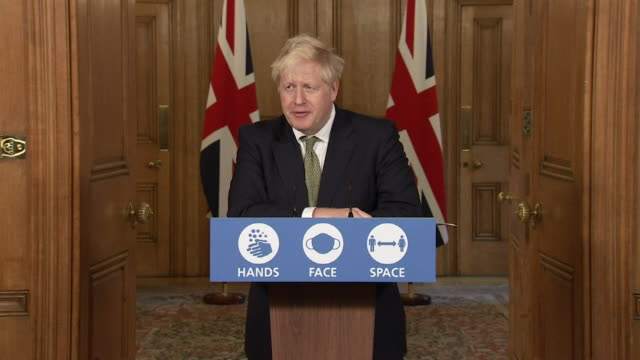 presser boris johnson pm about coronavirus test and trace system does need improving and people to self isolate - self improvement stock videos & royalty-free footage