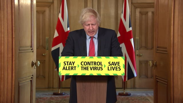 """presser boris johnson pm, about easing coronavirus lockdown restrictions further """"i will not throw away the gains we have made togather so the... - reduction stock videos & royalty-free footage"""