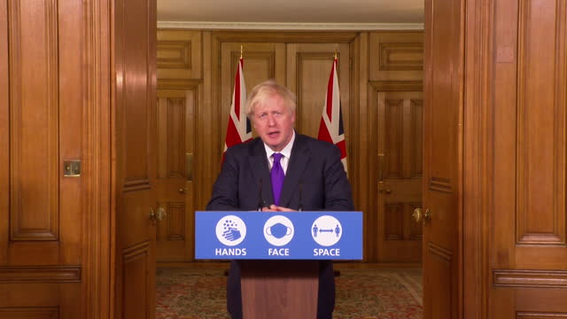 "presser boris johnson pm, about pfizer coronavirus vaccine being approved in the uk ""when you think of the damage this virus has done across the... - support stock videos & royalty-free footage"