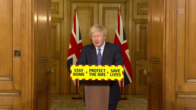 "presser boris johnson pm, about the preparations for the nhs during coronavirus pandemic and the pressures the nhs has been under - ""bbc news"" stock videos & royalty-free footage"