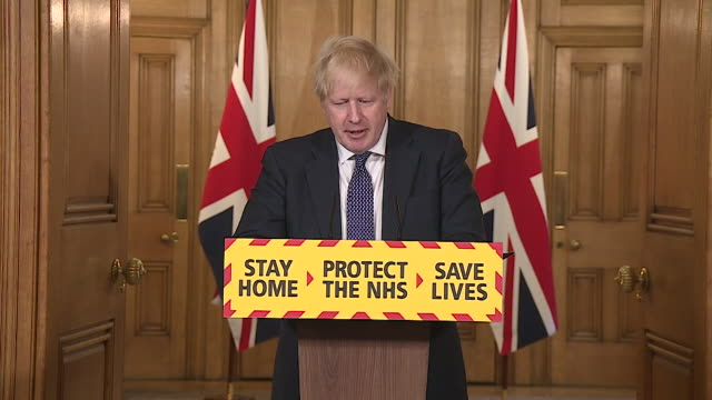 """presser boris johnson pm, about the rate of infection for coronavirus """"keeping the r rate down is vital for our recovery"""" - boris johnson stock videos & royalty-free footage"""