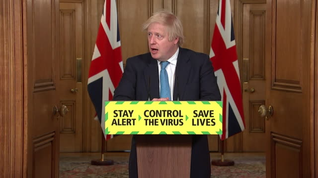 presser boris johnson pm, announcing the covid summer food plan for families that receive free school meals after marcus rashford campaigned for it - food stock videos & royalty-free footage