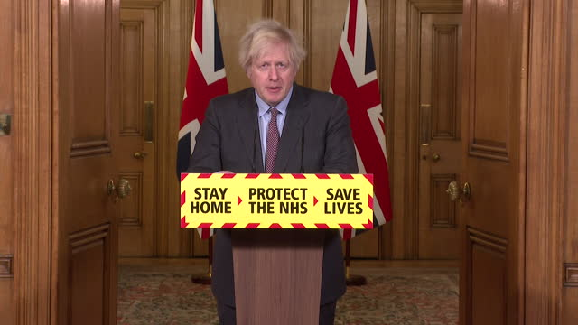 """presser boris johnson pm, as the uk surpasses 100,000 coronavirus deaths, promises to learn lessons from the pandemic """"we will make sure we learn... - bonding stock videos & royalty-free footage"""