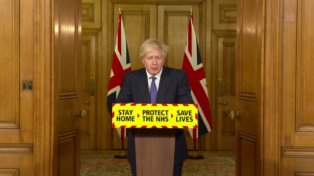 "presser boris johnson pm, due to coronavirus variants in other countries ""we will temporarily close all travel corridors"" - ""bbc news"" stock videos & royalty-free footage"