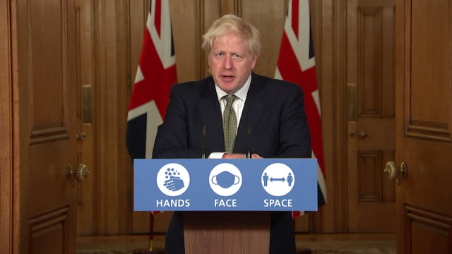 """presser boris johnson pm, on possibility of a national coronavirus lockdown after announcing tougher restrictions """"i really hope we won't have to go... - instructions stock videos & royalty-free footage"""