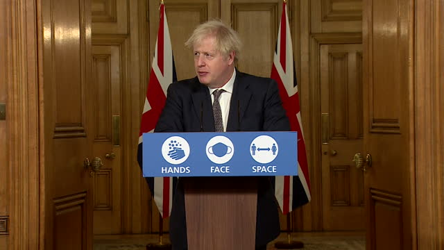 """presser boris johnson pm, urging caution over how people spend christmas during coronavirus pandemic """"we don't want to ban christmas, we are relying... - boris johnson stock videos & royalty-free footage"""