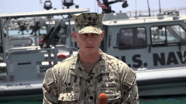 Presser Commander Sean Kido US Navy Task Group about attacks on oil tankers in the Straits of Hormuz UAE Iran are suspected It's a threat to...