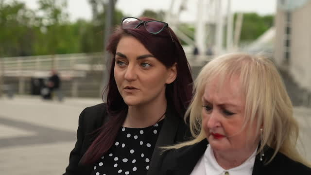 presser deanna matthews, hillsborough relative, about the collapse of trial of two police officers and a solicitor regarding the hillsborough... - justice concept stock videos & royalty-free footage