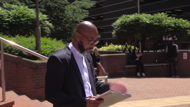 presser derrick campbell, iopc, about pc benjamin monk being found guilty of manslaughter after killing dalian atkinson during arrest in 2016 - courthouse stock videos & royalty-free footage