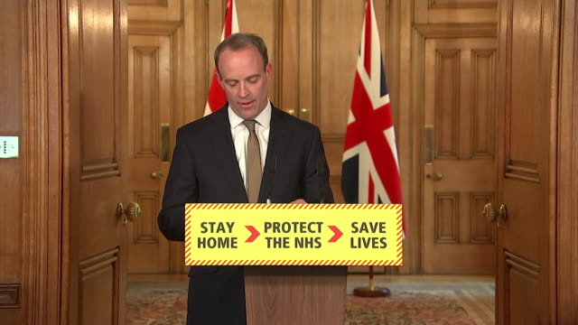 presser dominic raab foreign secretary about the uk's coronavirus lockdown this is a united effort and the spirit of selflessness shown by so many is... - togetherness stock videos & royalty-free footage