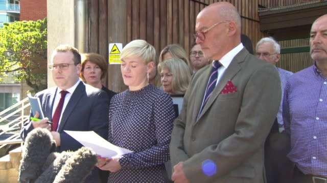 presser emma kocher sister of owen carey who died from a allergic reaction to food eating at byron burger speaks outside southwark coroners court we... - ingredient stock videos & royalty-free footage