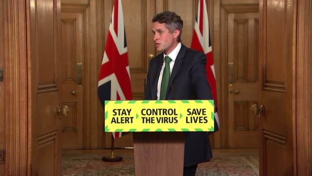 """presser gavin williamson mp education secretary about getting children back to school following the coronavirus lockdown we've created a series of... - """"bbc news"""" stock videos & royalty-free footage"""