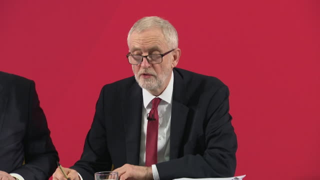 presser jeremy corbyn labour leader answers question over the nhs being part of trade talks if you want to know if ministers were involved they... - answering stock videos & royalty-free footage
