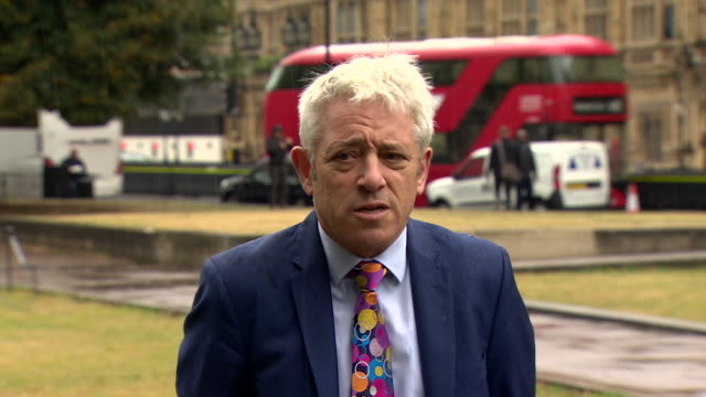 presser john bercow speaker of the house of commons about the unlawful prorogation ruling i have called for the resumption of the business of the... - the media stock videos & royalty-free footage