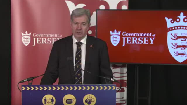 presser john le fondre, chief minister of jersey, about pubs, bars and restaurants shutting in jersey due to a surge in coronavirus cases on the... - channel islands england stock videos & royalty-free footage