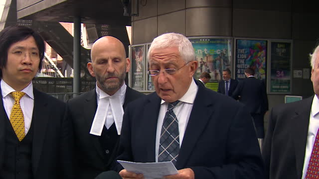 presser jonathan goldberg qc, counsel for peter metcalf, about collapse of trial of two police officers and a solicitor regarding the hillsborough... - legal trial stock videos & royalty-free footage