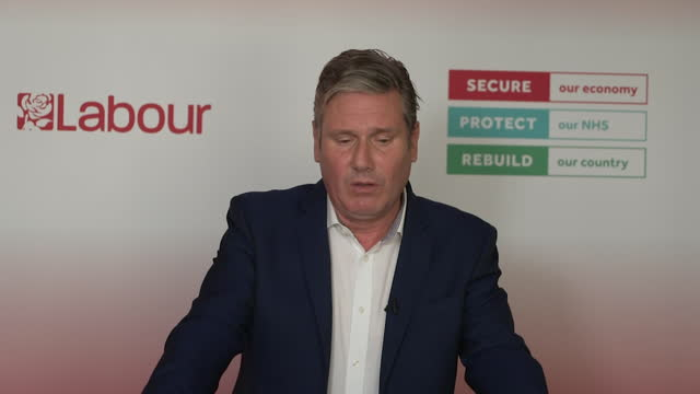 """presser keir starmer, labour leader, about all remaining coronavirus restrictions being lifted """"it is reckless and risks a summer of chaos"""" - """"bbc news"""" stock videos & royalty-free footage"""