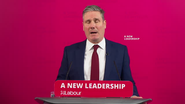 presser keir starmer, labour leader, pledges to work with government to help tackle coronavirus pandemic - teamwork stock videos & royalty-free footage