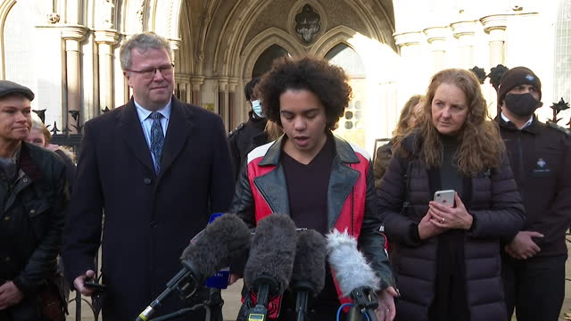 presser keira bell, delighted after winning high court case to say that a court order should be needed for children taking puberty blocking... - joy stock videos & royalty-free footage