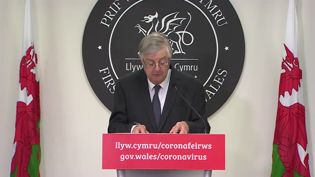 presser mark drakeford first minister of wales, about everyone over the age of 18 in wales being able to book a covod-19 vaccine from next week - effort stock videos & royalty-free footage