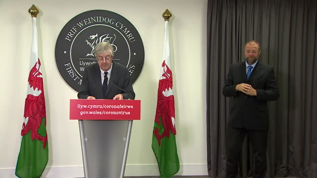 presser mark drakeford first minister of wales about it being mandatory to wear face coverings on public transport during coronavirus pandemic - public transport stock videos & royalty-free footage