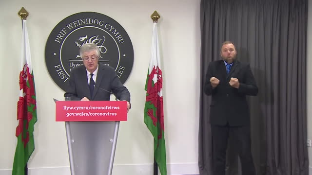 presser mark drakeford first minister of wales announces a fire break two week lockdown across the whole of wales it's our best chance to avoid a... - week stock videos & royalty-free footage
